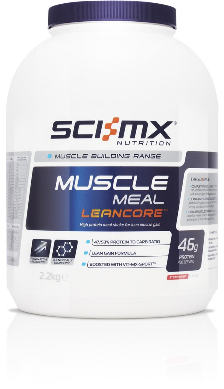 MUSCLE MEAL LEANCORE™ - Lean gain muscle meal - Balanced nutrition support - For lean, athletic muscle - With GRS 9-hour® Protein - Targeted Micronutrients http://www.sci-mx.co.uk/muscle-building/meal-replacement/muscle-meal-leancore.html