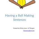 This activity is a baseball themed activity that works on basic sentence construction. Included in this packet are baseballs with nouns, verbs and ...