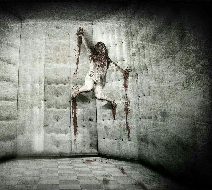 Diy haunted house decor scary scene inspired by the for Homemade haunted house effects