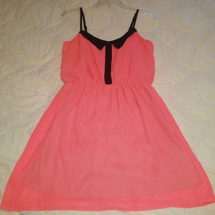 Coral Sundress w/ sailor style collar from Pacsun