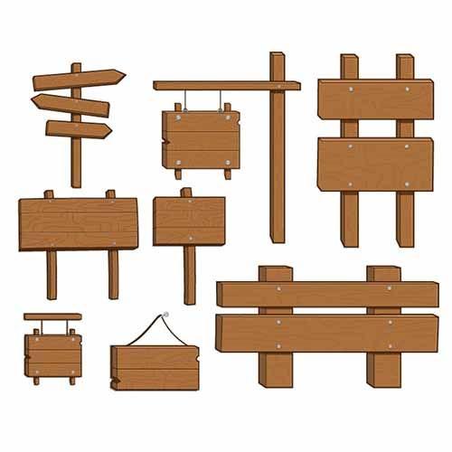 Деревянные Знаки Вектор