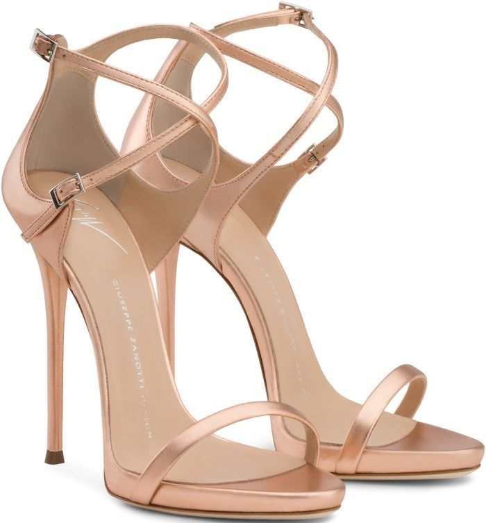 """Giuseppe Zanotti Nude """"Darcie"""" Sandals is scintillating. A must have accent for every girl's closet."""