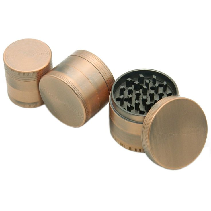 New Bronze Colors 4 Layers Herb Grinder Hand Muller Smoking Accessories Herbal Crusher Good Quality Pollen Spice Weed Grinder #Affiliate