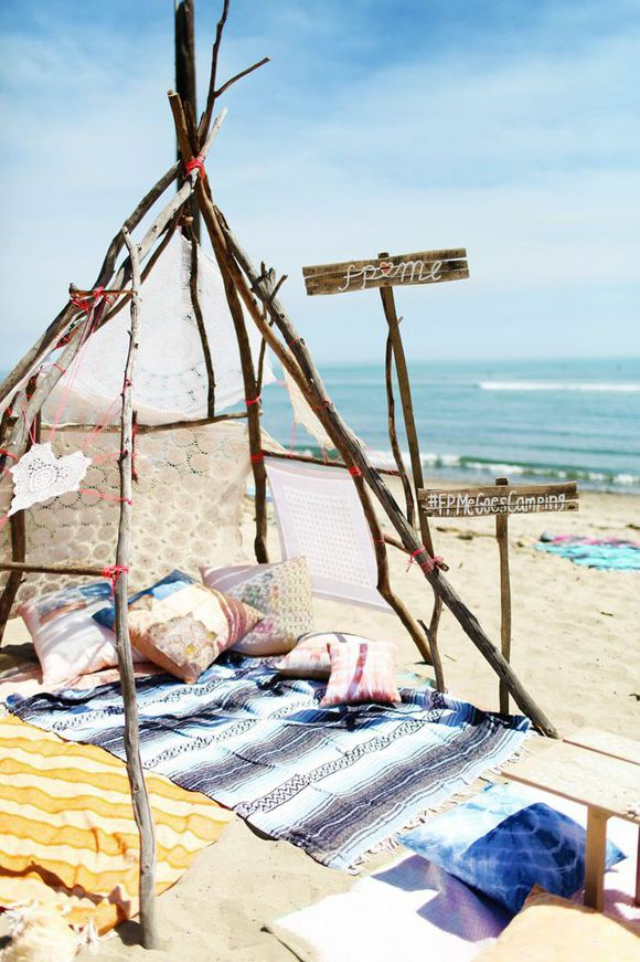Decor Inspiration: Beach Camping | Free People Blog #freepeople
