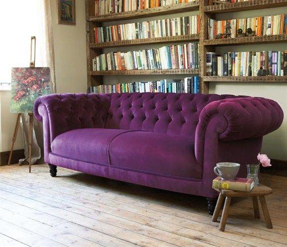 Chesterfield Sofa In A Beautiful Purple