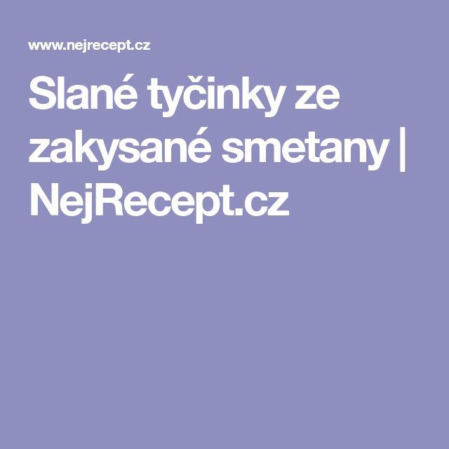 Slané tyčinky ze zakysané smetany | NejRecept.cz