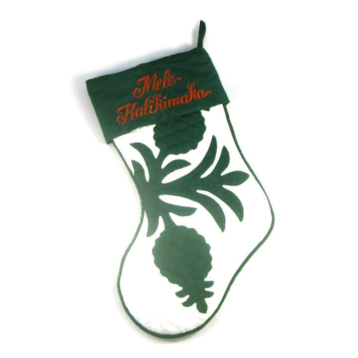 Mele Kalikimaka. A Christmas classic icon gets a touch of Aloha. You're sure to find a touch of Aloha in these Hawaiian quilt stockings as they hang from your fireplace mantle. These Hawaiian quilt st