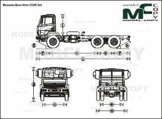 Mercedes-Benz Atron 2729K 6x4 - чертеж