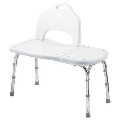 homecare by moen adjustable transfer bench in glacier