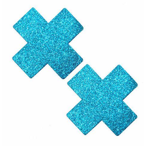 Bowie Blue Glitter X Pasties