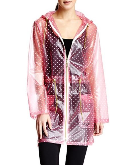 This too-cute clear and spotted coat. | 15 Cute Pieces Of Rain Gear To Make Your Gray Days Brighter
