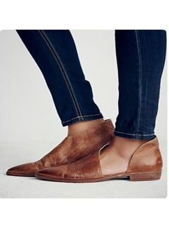 VERYVOGA Femmes PU Talon plat Chaussures plates avec Autres chaussures