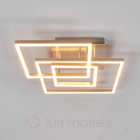 Trois cadres métalliques - plafonnier LED Delian