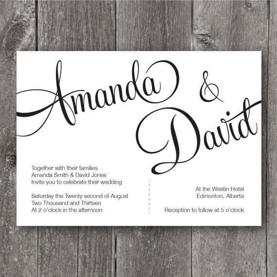 24 Best DIY Wedding Invitation Templates