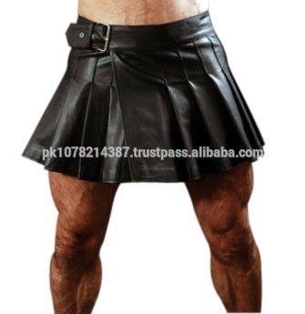 Mini Wrap-around Leather Kilt For Men - Buy Mens Fashion Leather Kilts,Leather…