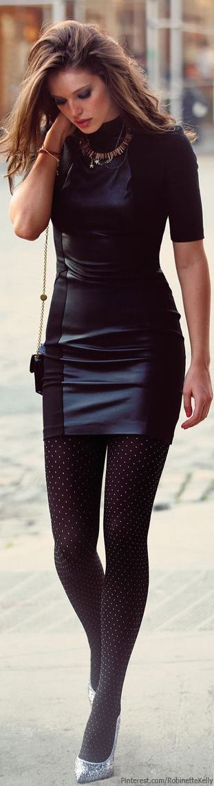 @BlackCoral4you Love dresses with leather accent!!
