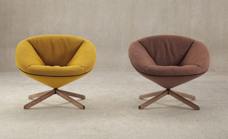 Sancal based these chairs on a tortoise shell, which is hard on the outside and soft on the inside.