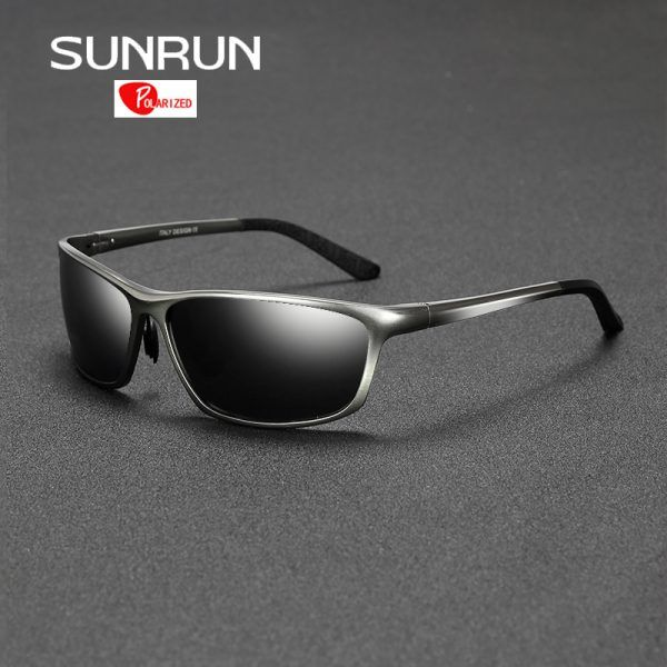 SUNRUN Polarized Sunglasses Men Driving Goggle Aluminum Eyewears Sun Glasses for Man lentes de sol hombre