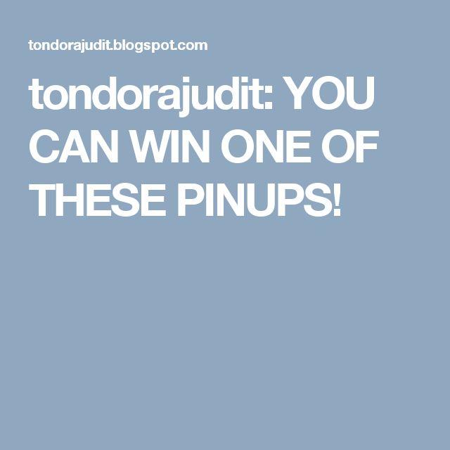 tondorajudit: YOU CAN WIN ONE OF THESE PINUPS!