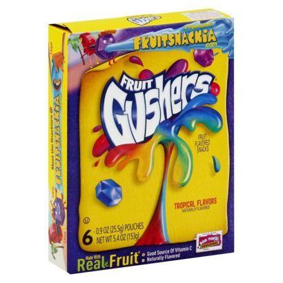 Betty Crocker Fruit Gushers Tropical Flavored Snacks 6 pk