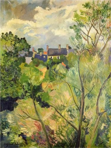 View from My Window in Genets (Brittany) - Suzanne Valadon http://paintwatercolorcreate.blogspot.com/2013/09/artist-model-muse.html