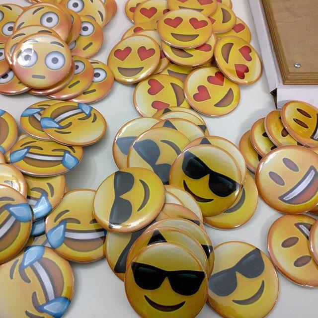 Chapas de 75 mm personalizadas, #emoticonos