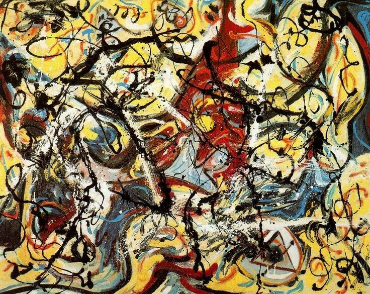 Jackson Pollock.  See The Virtual Artist gallery: www.theartistobjective.com/gallery/index.html