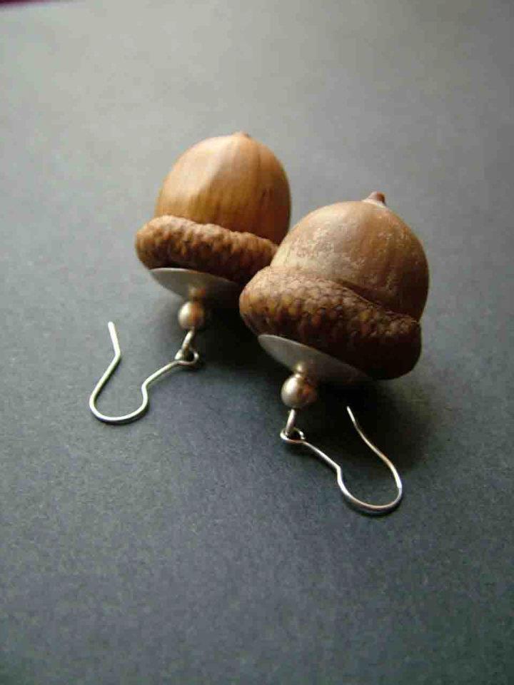 acorn earring sterling silver socket