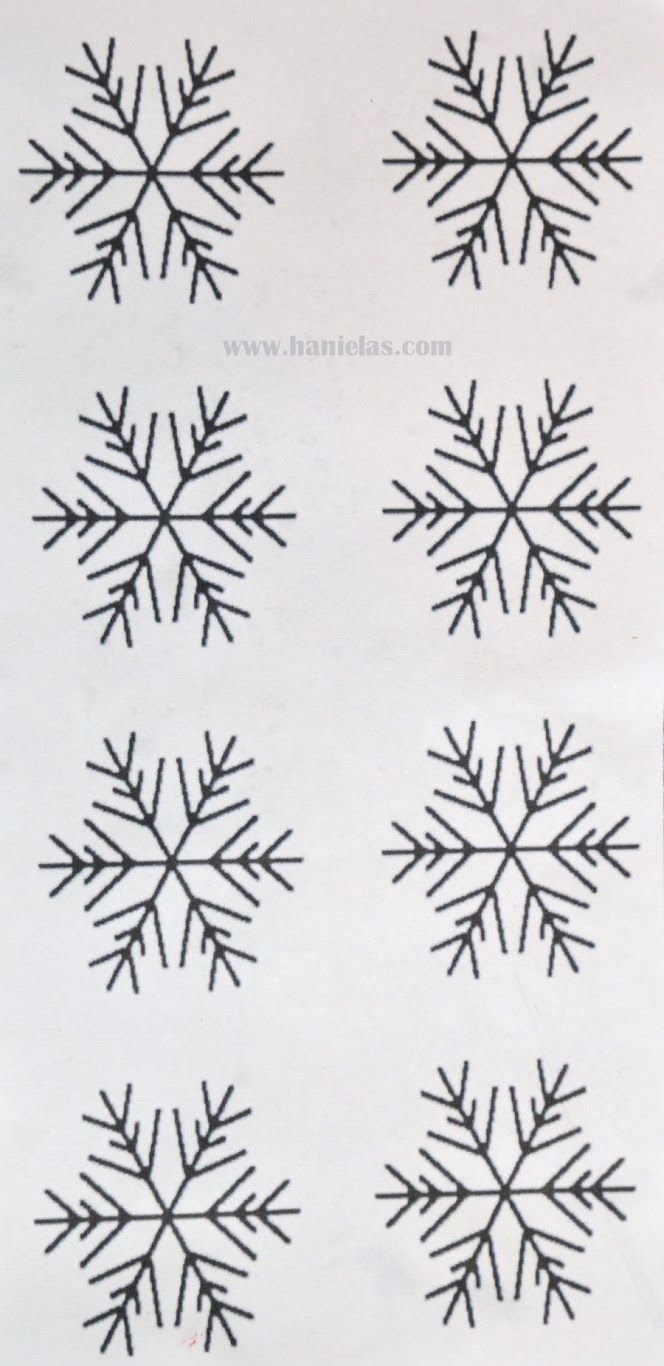 Simple Snowflake Template for Royal Icing Snowflakes