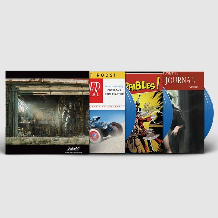 Exclusive to the Bethesda Store, the Fallout 4: Deluxe Vinyl OST contains the full 65 track game score from renowned game composer Inon Zur. This collection includes over 3.5 hours of Fallout music on six LPs in three full color gatefold jackets, all housed in a full color heavy board-stock slipcover. This is truly a collection of unprecedented proportions.  Artist: Inon Zur Format: Six LP Box Set, 140g vinyl Limited Edition of 3,000