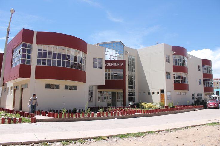 Escuela Profesional de Ingeniería Electrónica de la Universidad Nacional del Altiplano.  Foto: Octubre 2014
