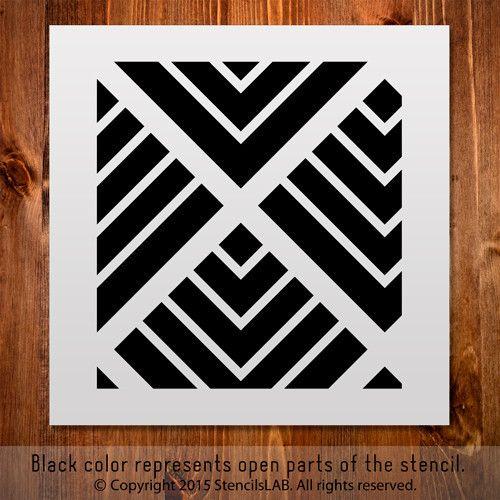 Small Stencil. Geometric Pattern Stencil