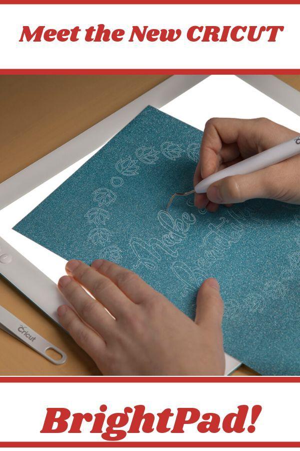 Cricut S New Brightpad Makes Crafting Easier And Reduces Eye Strain It Illuminates Fine Lines For Tracin Teaching Art Cricut Brightpad Easy Crafts