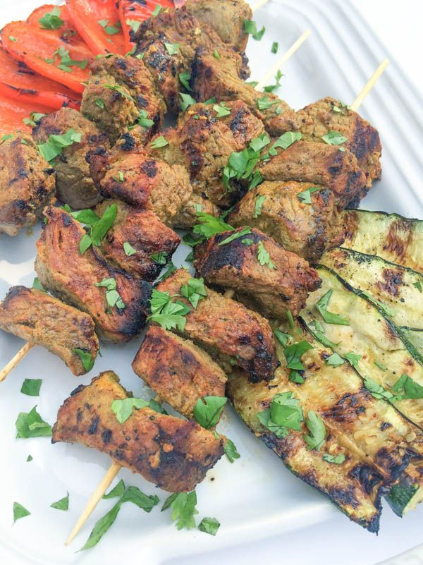 Indian Spiced Beef Kabobs - The Lemon Bowl