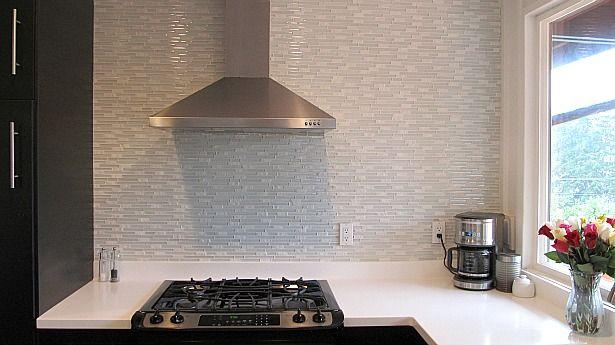 #diy #backsplash  glass mosaic and stone tile