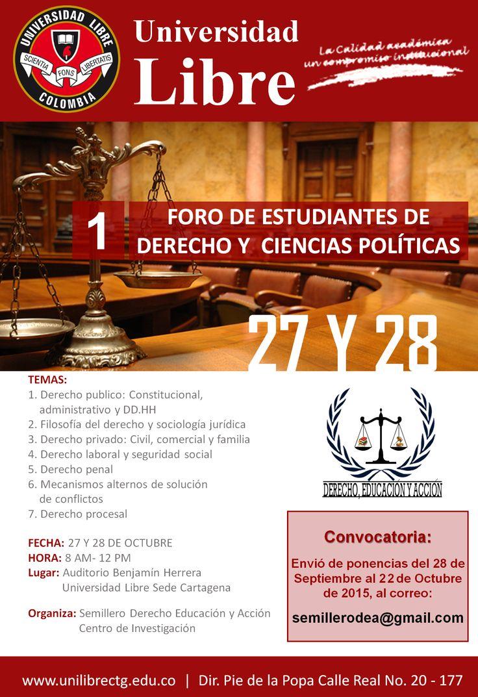 I FORO DE ESTUDIANTES DE DERECHO Y CIENCIAS POLÍTICAS - 2015