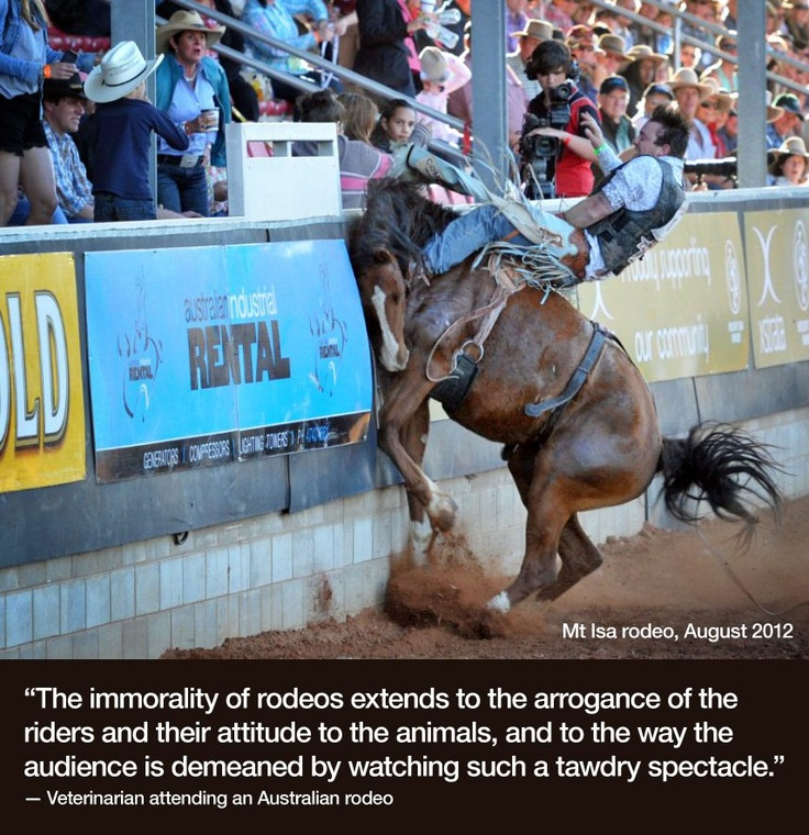 Mt Isa Rodeo in Queensland (14th August 2012) This should be banned