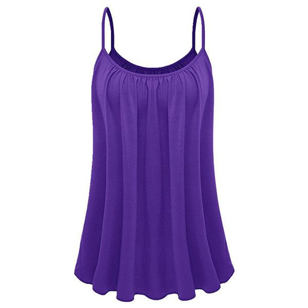 Women's Womens Plus Size Cami Basic Camisole Tank Top ($8.99) ❤ liked on Polyvore featuring intimates, camis, purple, tops & tees, plus size camisoles, purple cami, purple camisole and plus size cami