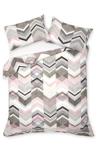 Buy 2 Pack Texture Chevron Bed Set from the Next UK online shop