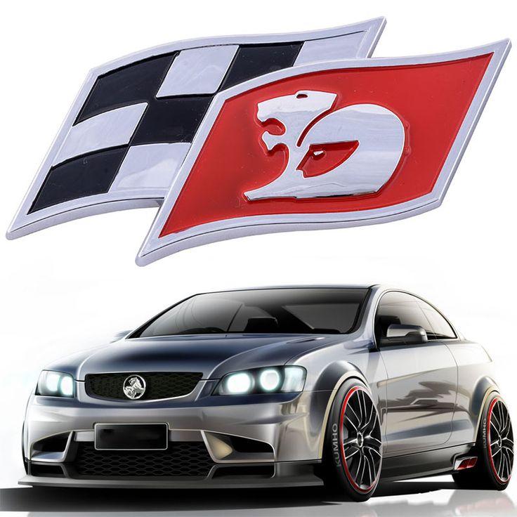 ABS Kangaroo Flag Car Emblem Badge Sticker Decal for Holden Red