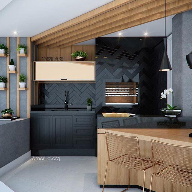 Varanda Gourmet | Nesta Varanda optamos por usar a madeira, o preto e o cinza para compor a decoração. A grande aposta foi o revestimento da churrasqueira em paginação Espinha de Peixe com o mix de azulejo polido e fosco! Amamos o resultado e vocês? ⠀⠀⠀⠀⠀⠀⠀⠀⠀⠀ ⠀⠀⠀⠀⠀⠀⠀⠀⠀⠀ ⠀⠀⠀⠀⠀⠀⠀⠀⠀⠀ ⠀⠀⠀⠀⠀⠀⠀⠀⠀⠀ ⠀⠀⠀⠀⠀⠀⠀⠀ ⠀⠀⠀⠀⠀⠀⠀⠀⠀ ⠀parceria @camila_fleckarq