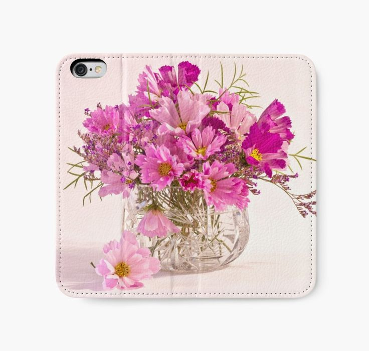Cosmos - Summers Last Bouquet by Sandra Foster. https://www.redbubble.com/people/sandrafoster/works/10843618-cosmos-summers-last-bouquet?p=iphone-wallet