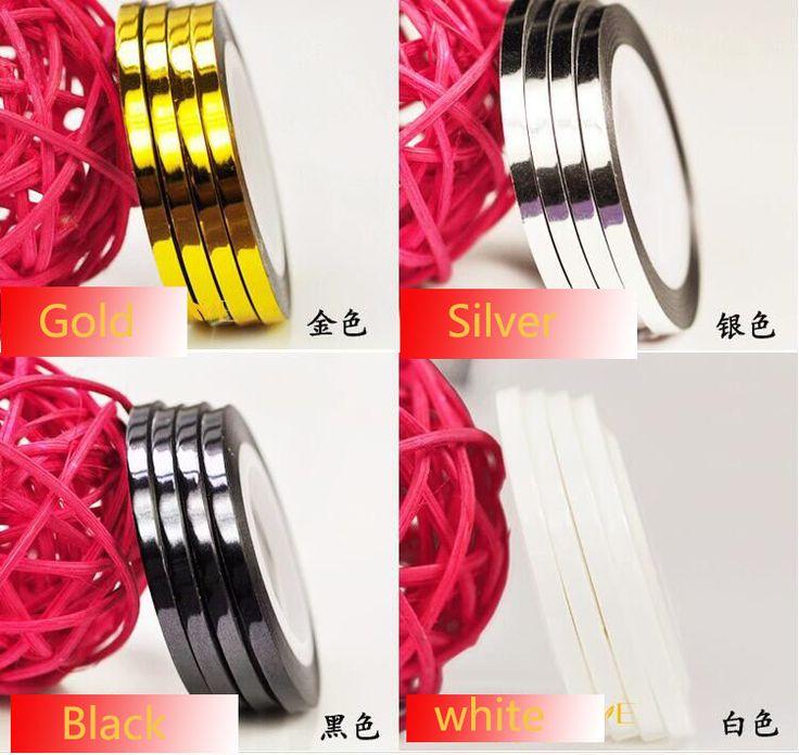 2mm/3mm Mischfarben Radium Selbstklebende 3D Nagel Linie