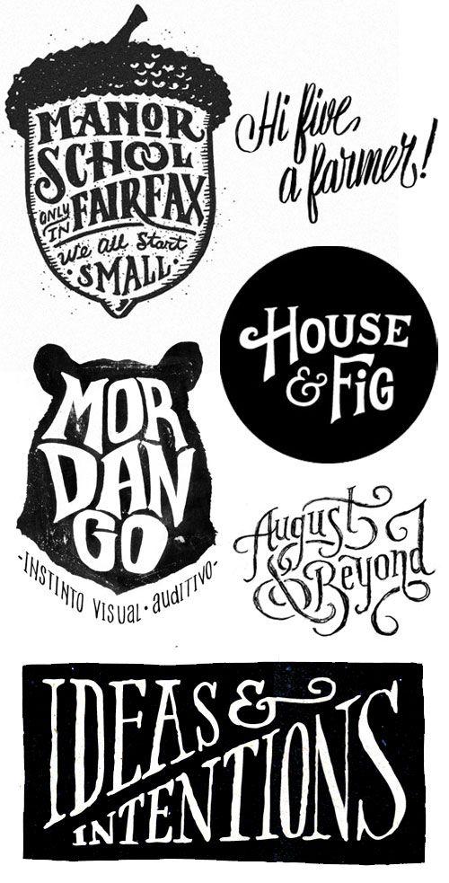 Hand lettering by Joel Felix, Neil Tasker., Scout's Honor Co., Estudio Tricota, Matt Lehman & Jon Contino