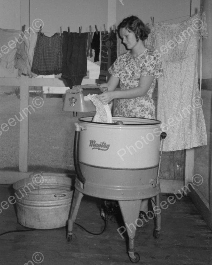 Maytag Ringer Washing Machine 1938 Vintage 8x10 Reprint Of Old Photo