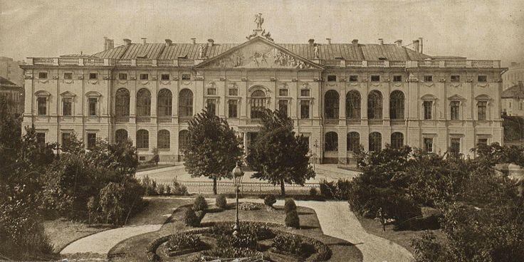 Pałac Krasińskich ( Sąd Najwyższy, Pałac Rzeczypospolitej), Warszawa - 1912 rok, stare zdjęcia