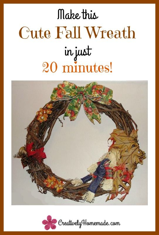 Quick And Easy Fall Wreath Tutorial Front Doors It Is