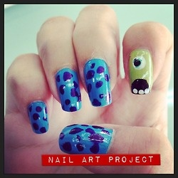 Monsters Inc #NailArt #mike #Sulley