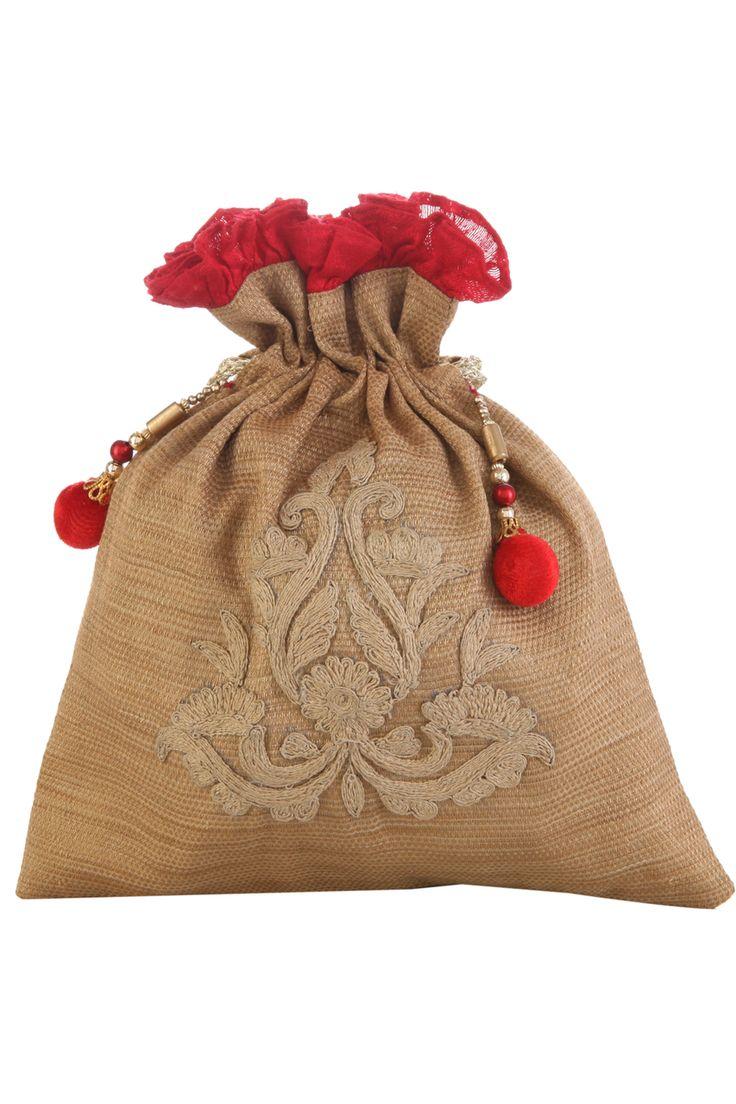 Tarusa World | Gold Potli Bag | SCARLETBINDI.COM