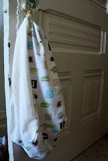 Homespun With Love: 50 Ways to Reuse Receiving Blankets: Travel Bag, Use # 3